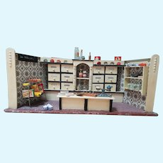 Vintage 1930s/1940s Miniature German Grocery Store Dollhouse