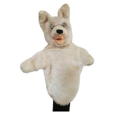 Vintage Steiff Wolf Hand Puppet - Loopy