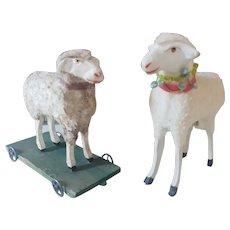 2 Big German Putz Sheeps