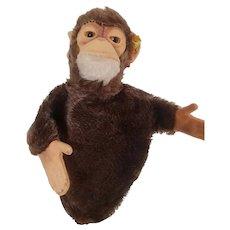Vintage Steiff Monkey Hand Puppet - Jocko