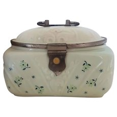 Vintage Hand Painted Porcelain Box - Cookie Jar