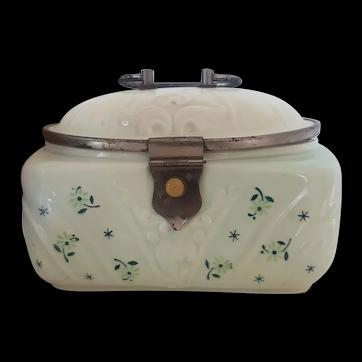 Vintage Hand Painted Porcelain Box - Cookie Jar