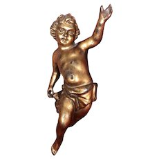 18th century possibly French gilded wooden Putto