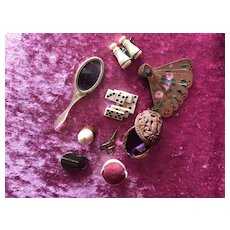 Varied lot of 9 miniature accessories for a French poupées
