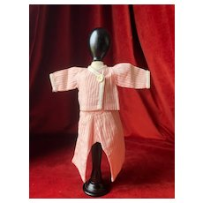 """GL """"Bonsoir"""" pajama for Bleuette doll possibly 1930's"""