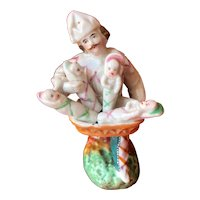 """The Babies Merchant"", unusual porcelain subject from the Napoleon III period"