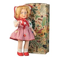 Beautiful LENCI doll mint in box, model 95/46 of the 1940-50's