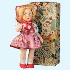Beautiful LENCI doll mint in box, model 95/46 of the 1940-50's