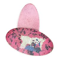French chocolate box with a Venetian Carnival theme gallant scene