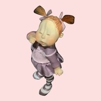 Little dressed girl by Tina Kammerbeek