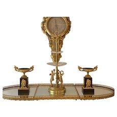 French Mirrored Bronze Dor'e Surtout de Table Centerpiece