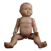 Vintage composite boy doll, c1920's