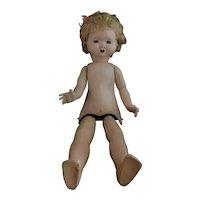 Large vintage composite walking doll, c1940's