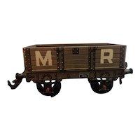 Vintage tinplate OO Gauge train coach