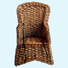 Vintage Wicker dolls chair, Teddy bear chair