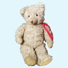 Vintage c1950s straw filled Teddy bear, large