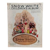 Vintage 1930's Disney Snow White, children's album