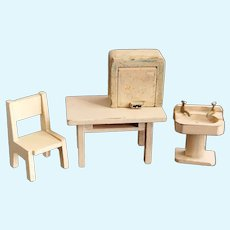 Vintage dolls House furniture set, mixed