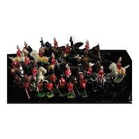 Vintage lead soldiers, horseback, Britain's, Johillco
