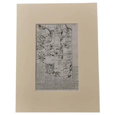 Antique Map print, Whitby Yorkshire