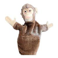 Vintage Steiff Jocko chimp hand puppet, ear tag