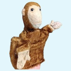 Antique Steiff chimp hand puppet