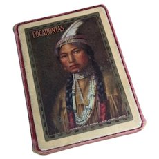 Antique Pocahontas playing cards, Congress 606