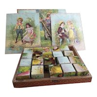Victorian picture block puzzle game