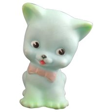 Vintage cute kitsch kitten toy, squeaky toy