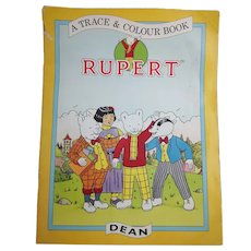 Vintage Rupert trace and colour book