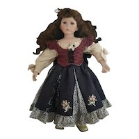 Large vintage porcelain head girl doll