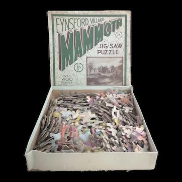 Vintage 1930's jigsaw puzzle, Eynsford Village