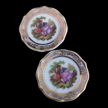Vintage French Dolls House plates, Limoges