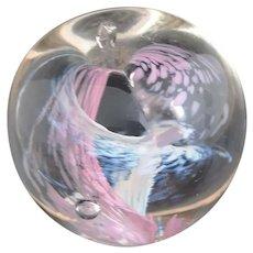 Vintage glass art apple paperweight, Selkirk