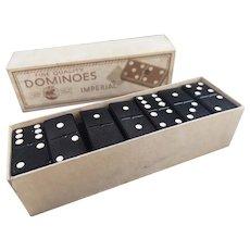 Vintage 50s crystalite dominoes, boxed