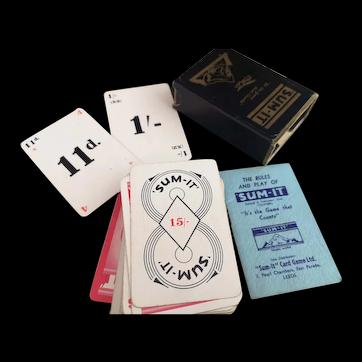 Vintage 30s Sum It game