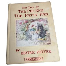 Vintage Beatrix Potter book, The Pie and the Patty Pan