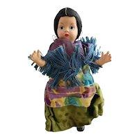 Vintage composite folk art doll