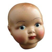 Vintage ceramic doll head c1930's