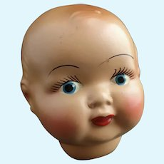Vintage ceramic doll head c1930's