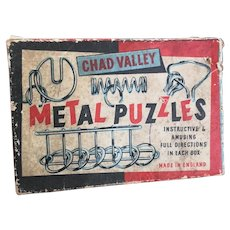 Vintage 50s Chad Valley Metal puzzle game