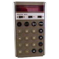 Vintage Anita 811 calculator, 1970's