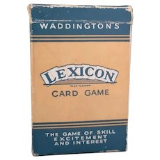 Vintage 50s Lexicon card game, Waddingtons