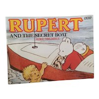 Vintage Rupert book, The secret Boat