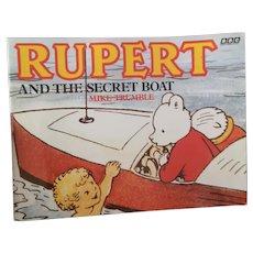Vintage Rupert book, The secret Boat
