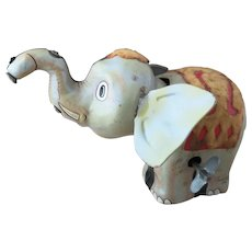 Rare vintage 1940s, Wind up elephant, clockwork, CK Japan