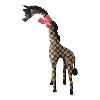 Vintage 40s large stuffed giraffe toy