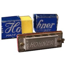 Vintage miniature Hohner harmonica