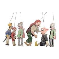 Antique theatre puppet set