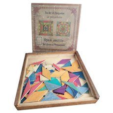 Antique Wooden Parquetry game